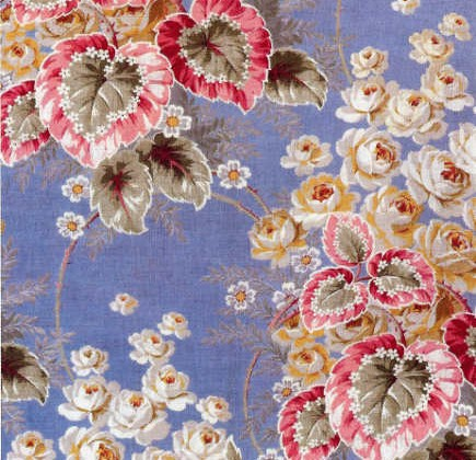 Early 20th century floral Russian textiles - WOI via Atticmag