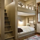 custom built-in bunk beds by Resort Custom Homes via Atticmag