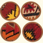 home décor gift ideas - Kilim coaster from Rug & Relic via atticmag
