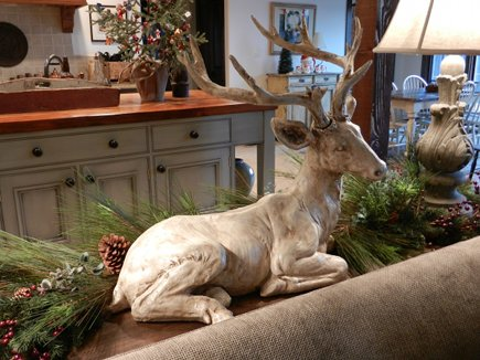 deer statue glazed with stain from Wisteria catalog