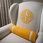 Monogrammed Easy Chairs