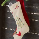 white felt Madeleine stocking from Olive and Coco