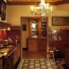 vintage style tile Victorian patterned kitchen floor by Winckelmans - WOI via Atticmag