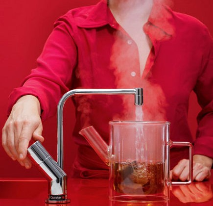Quooker tap - instant boiling water kitchen faucet via atticmag