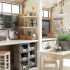 ccrafts room ideas - combination laundry room and crafts room with a common table - a brighter place via atticmag