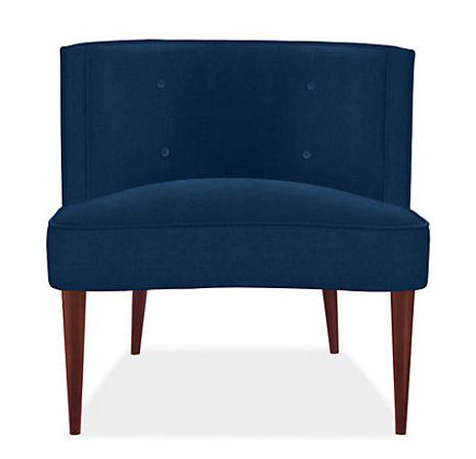 accent colors - Chloe chair in indigo from Room and Board via atticmag