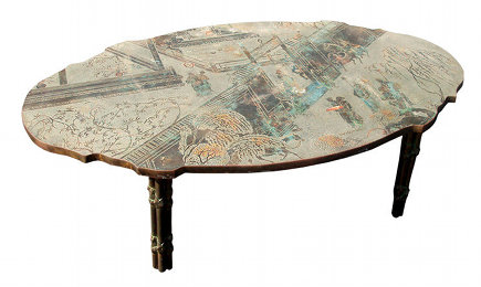 Chan Boucher Philip and Kelvin L Laverne metal table table - Worth Point via Atticmag