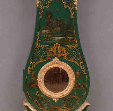 Swedish clocks - 18th century emerald green Swedish clock with Chinoiserie decoration - Stair Galleries via Atticmag