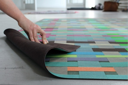 digital print floor mats by Domestic Construction via atticmag
