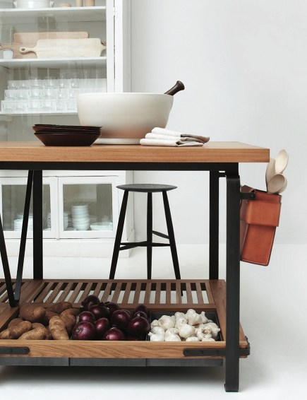 handcrafted kitchen work tables by March SF via Atticmag