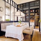 kitchen banquettes - Dining room with banquette in Deulonder kitchen - el meuble via Atticmag