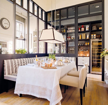 kitchen banquettes - banquette in Deulonder kitchen - el meuble via Atticmag