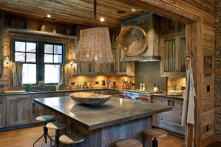 Barnwood Kitchens By The Cabinet Company Via Atticmag