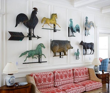 displaying collections - antique weather vanes - kelly and olive via atticmag