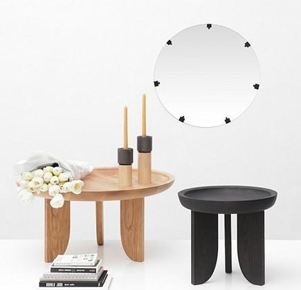 artisan home decor - American ash side tables from Grain via atticmag