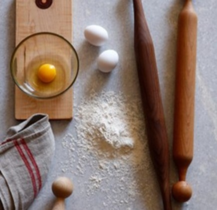 vintage style gift ideas - inspired rolling pins and cutting boards from Minam via atticmag