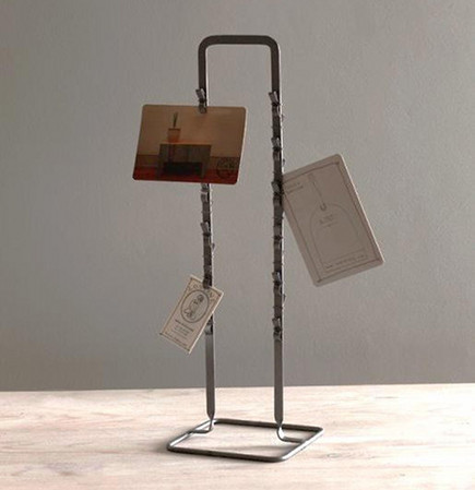 vintage style gift ideas - metal postcard clip stand from Minam via atticmag