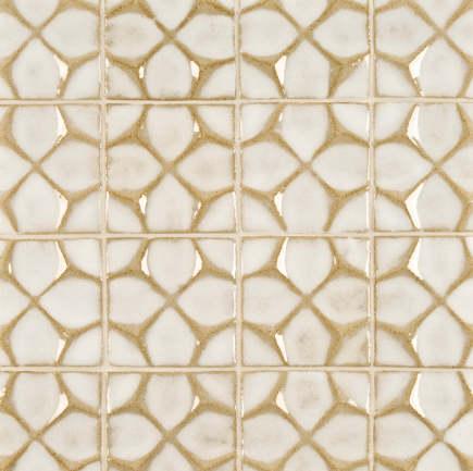kitchen backsplash tile - Ann Sacks Nottingham honeycomb artisan glaze tile in veil - via atticmag