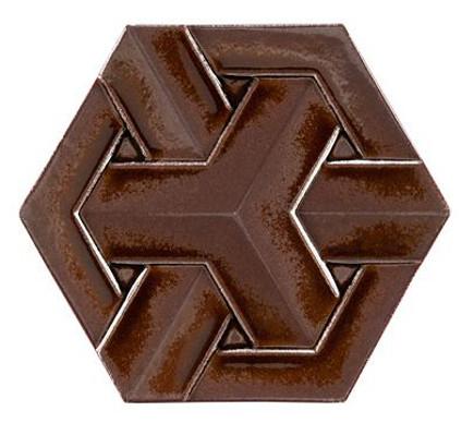 kitchen backsplash tile - Ann Sacks Ogassian geoweave dimensional tile in cola - vai atticmag