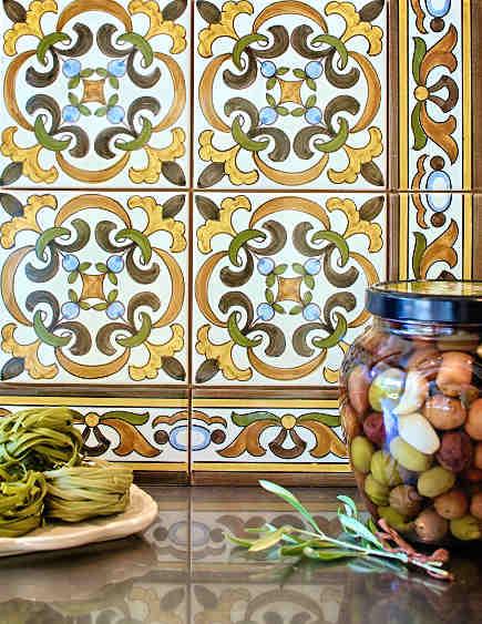 kitchen backsplash tile - Country Floors Miraduro Portuguese tile - via atticmag