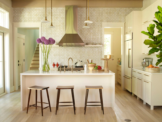 kitchen backsplash tile - Ann Sacks Nottingham honey comb tile by Angie Hranowsky via atticmag