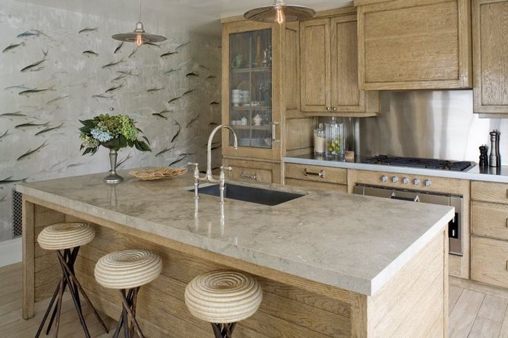 Limed Oak Kitchen Cabinets By Jeffrey Alan Marks Via Atticmag