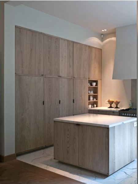 limed oak kitchen cabinets - minimalist limed oak kitchen cabinets by AIDArchitecten via atticmag