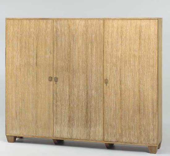 limed oak kitchen cabinet - Jean-Michel Frank cabinet sold at Christie's - atticmag