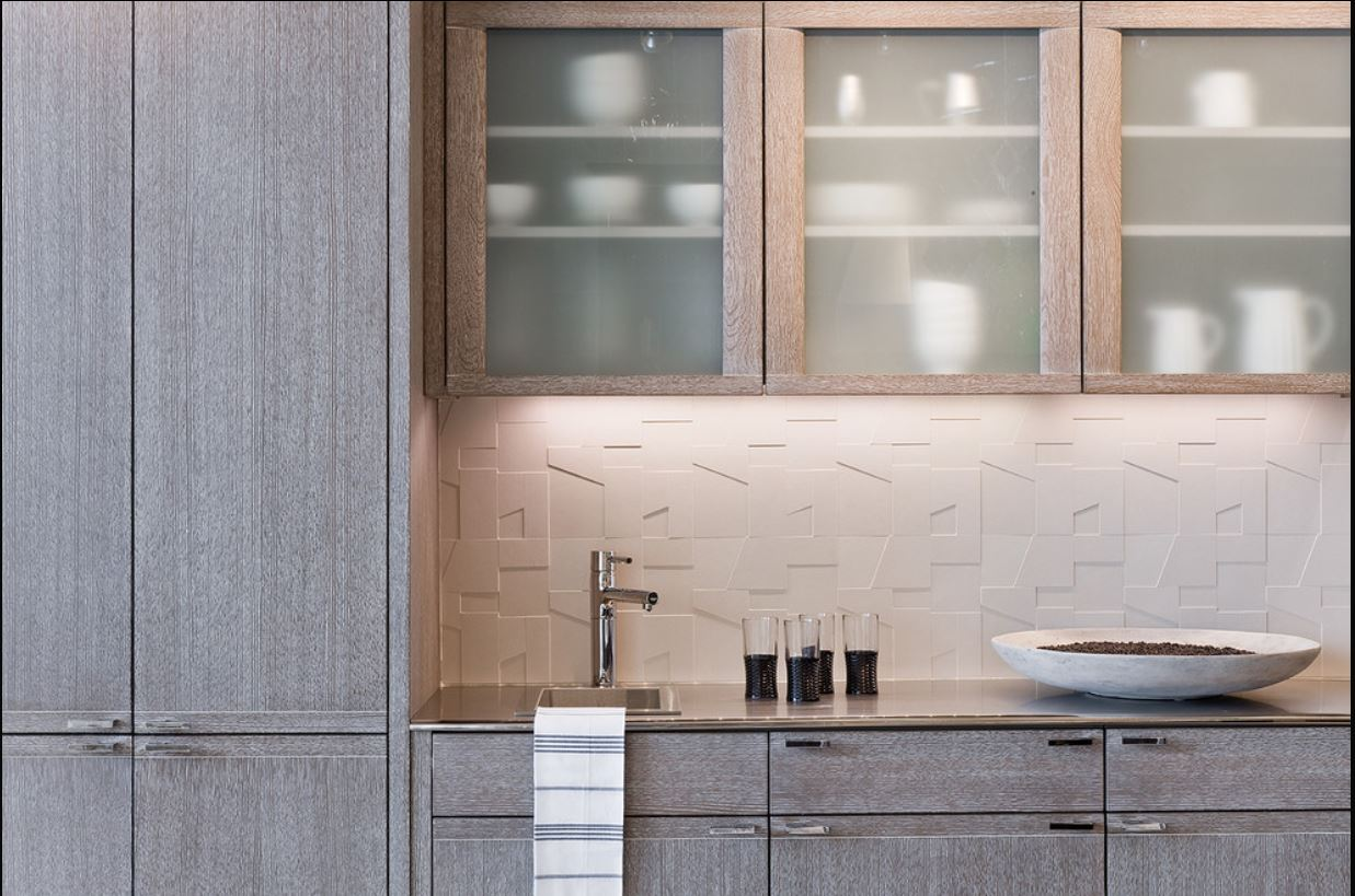 limed oak kitchen cabinets _ pickled oak cabinets in a kitchen by Venegas and Company via atticmag