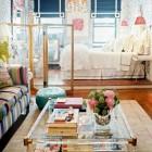 eclectic studio apartment by Elizabeth Bauer - via atticmag