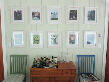 dining room picture wall - using magazine pages in budget frames - atticmag