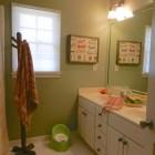 child's bathroom renovation - guest bathroom remodel via Atticmag