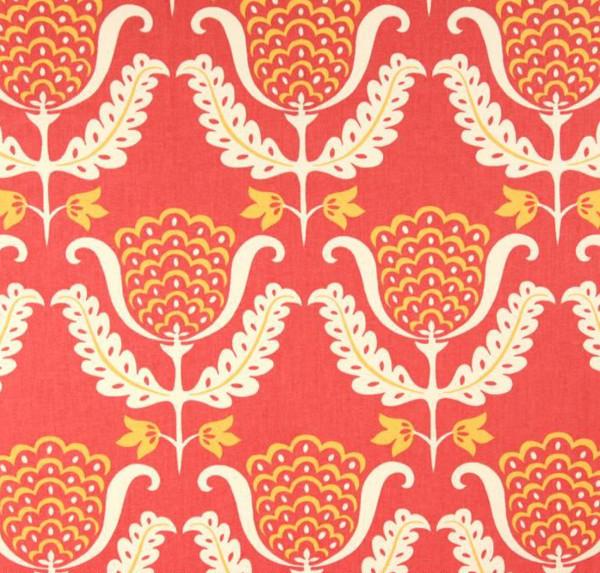 master bedroom decorating ideas - Waverly One Wish Azalea fabric - Atticmag