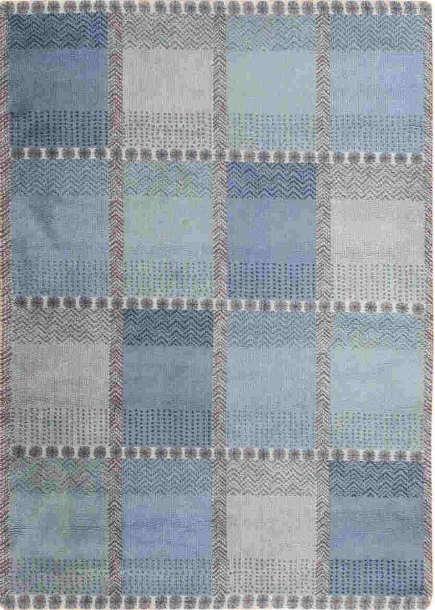 vintage rugs - Color block blue Swedish antique rug - Nazmiyal via Atticmag