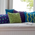 felted wool pillows by Alison Cannon - Woollymama Fiber Art via Atticmag
