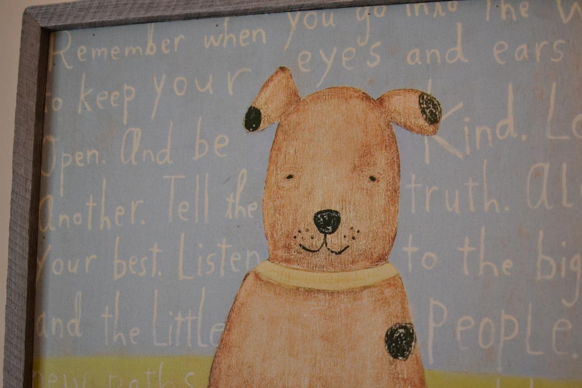colorful playroom - Sugarboo Designs Art Print Brown Boy Dog via Atticmag