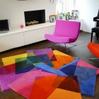 colorful modern rugs - After Matisse contemporary rug by Sony Winner Studio - atticmag
