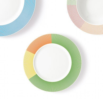 Mediterranea dinnerware collection by Studio Natural for Marino Cristal via Atticmag