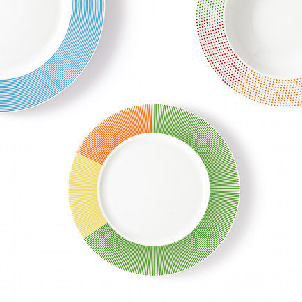 colorful dinnerware - Mediterranea dishware collection by Studio Natural for Marino Cristal via Atticmag