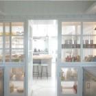 built in pie safe pantry wall in beach house kitchen - Sardar Design via Atticmag