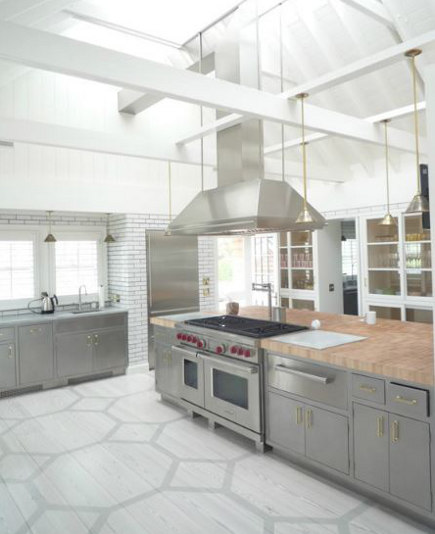 beach house kitchen with built in pie safe pantry wall - sardardesign via atticmag