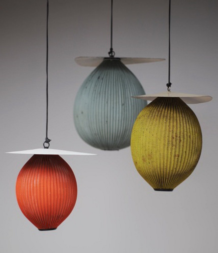 orange home decor - Mathieu Matégot Satellite pendant lamp - jousse-entreprise via atticmag