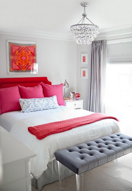 Enliven Neutral Gray Guest Bedrooms With A Strong Accent Color