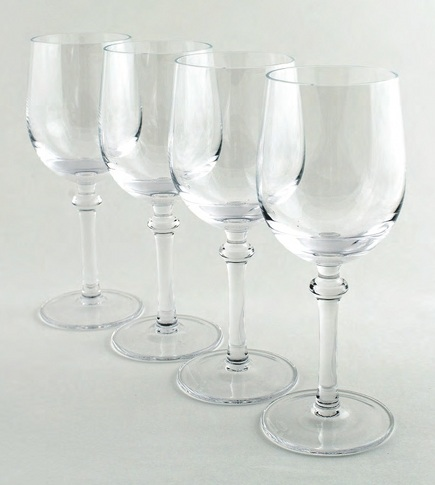 contemporary tableware - Jackie White wine glasses from B By Brandie via Atticmag