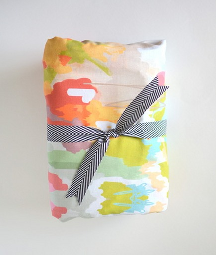 organic bedding for children - handmade cotton crib sheet by Candy Kirby Designs via Atticmag