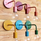 modern home decor - colorful industrial wall sconce by onefortythree via Atticmag
