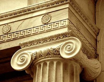 greek key motif - greek fret on an architrave - eleysis-ellinwn via Atticmag