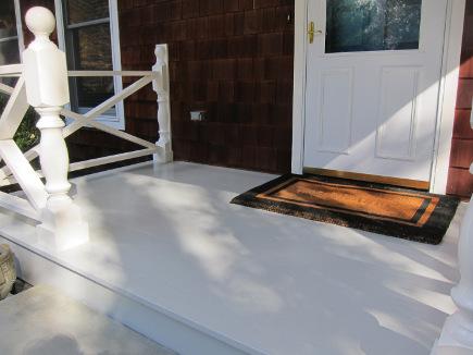 front porch redo - repainted front porch floor - Atticmag