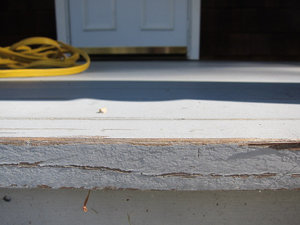 front porch redo - front porch before repainting - Atticmag