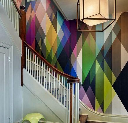 geometric wallpaper - multi-color geometric Circus wallpaper by Cole & Son via Atticmag